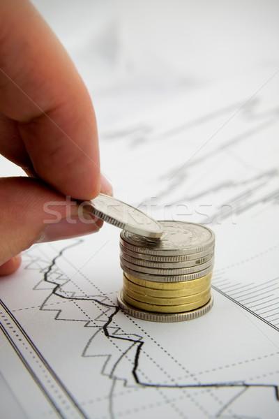 монетами бизнеса Сток-фото © simpson33