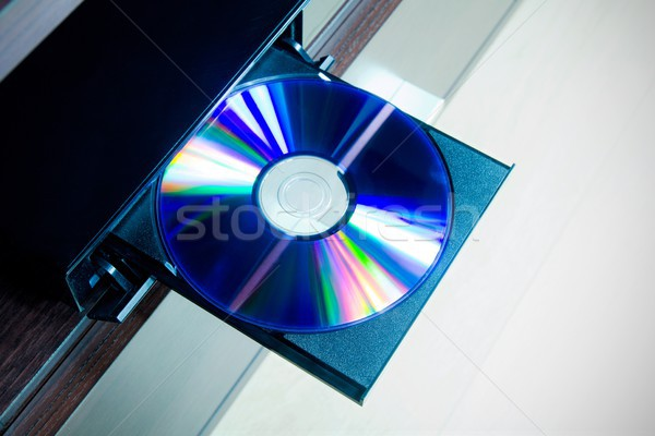 Disc insterted to DVD or CD player Stock photo © simpson33