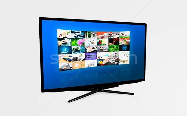 Szélesvásznú nagyfelbontású tv képernyő videó galéria Stock fotó © simpson33