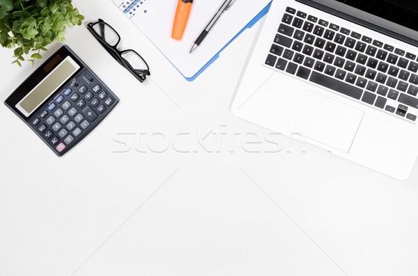 表 ノートパソコン 事務用品 先頭 表示 ストックフォト © simpson33