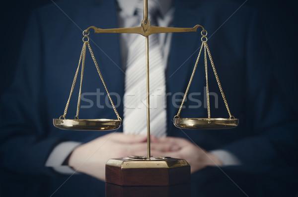 Peso scala giustizia avvocato legge giudice Foto d'archivio © simpson33