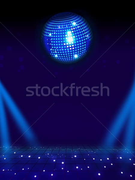 Disco ball magie vloer licht vol lay-out Stockfoto © simpson33