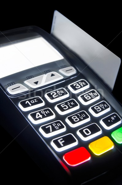 Payment terminal with lighting keypad at night Stock photo © simpson33