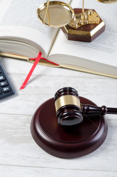 Law gavel justice symbol. Stock photo © simpson33