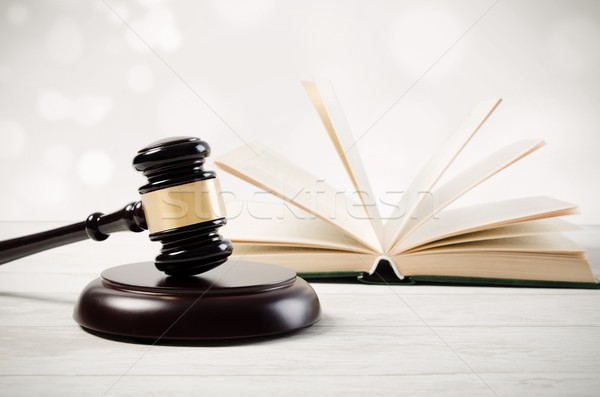 Justice concept in court library Stock photo © simpson33