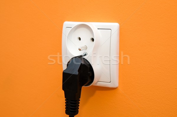 Electrical socket in wall Stock photo © simpson33