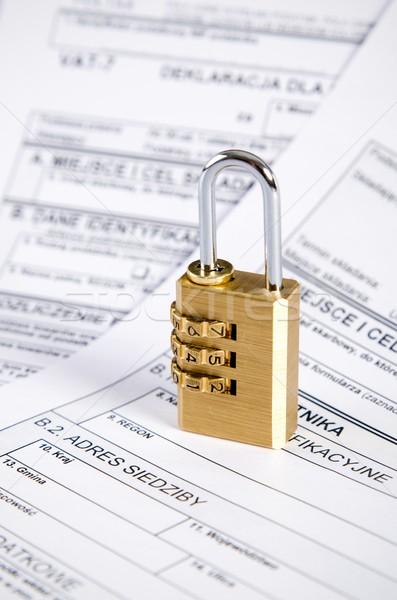 Impuesto oficina negocios Internet electrónico fiscal Foto stock © simpson33