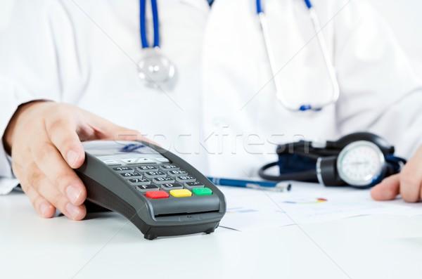 Bezahlung Gesundheitspflege Mann Arzt Stock foto © simpson33