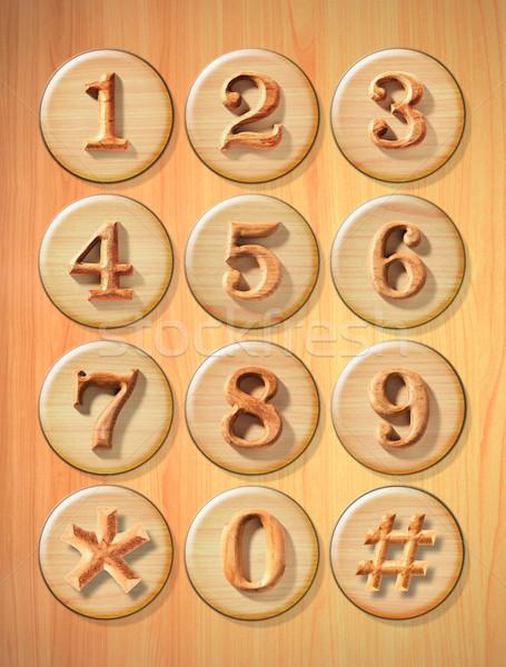Stock photo: Numeric button