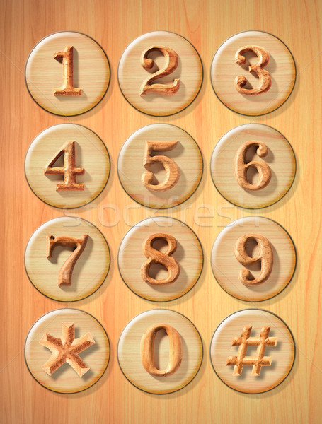 Numeric button Stock photo © sippakorn