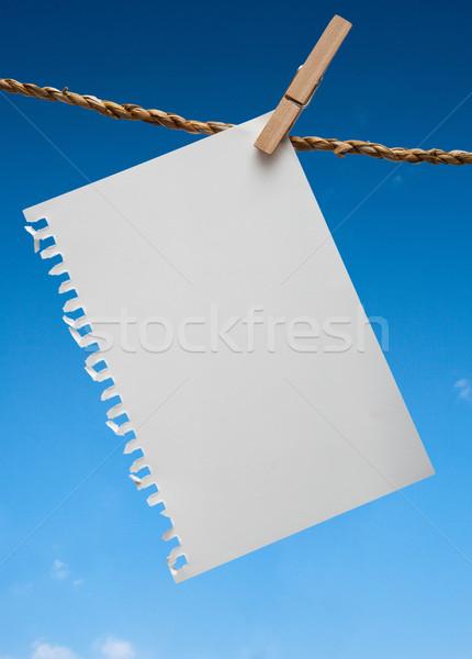 Nota adjunto cuerda cielo azul Foto stock © sippakorn