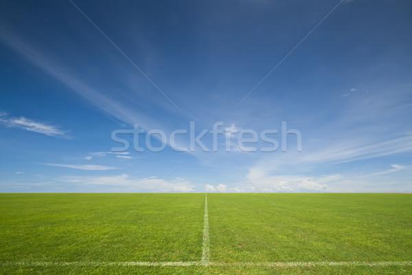 Imaginación cielo azul fútbol campo de fútbol cielo hierba Foto stock © sippakorn