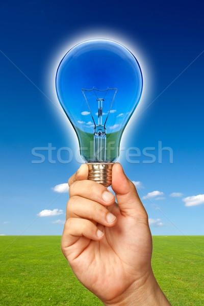 Ecológico vista naturaleza reflexión bombilla lámpara Foto stock © sippakorn