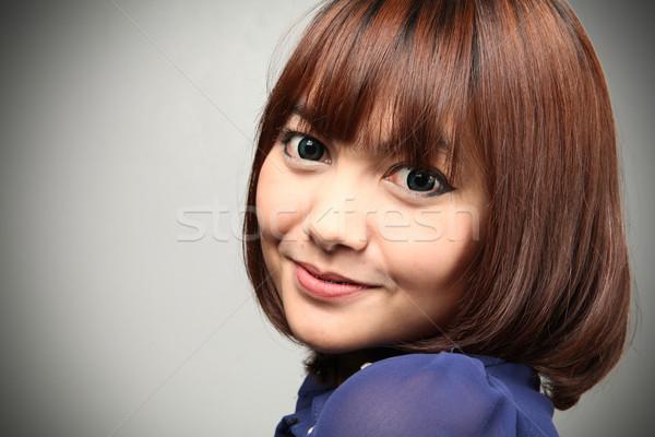 Brillante ojos retrato feliz verde jóvenes Foto stock © sippakorn