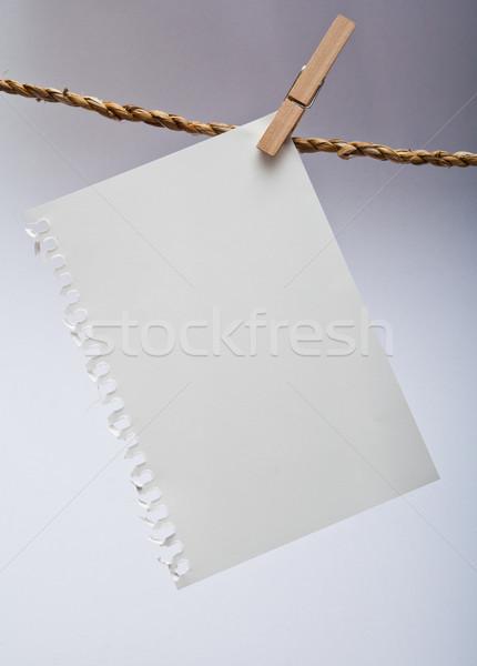 Nota adjunto cuerda blanco Foto stock © sippakorn