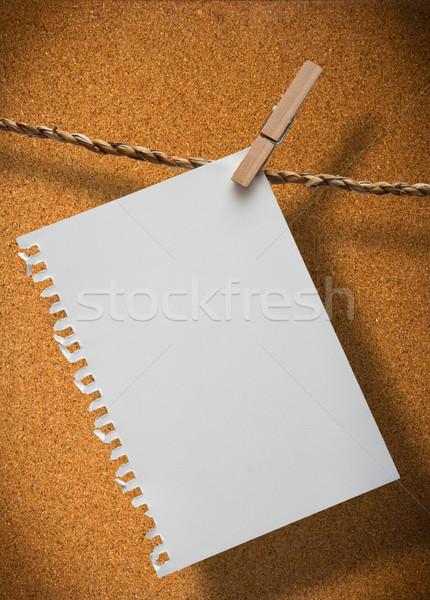 Nota adjunto cuerda tablero de corcho Foto stock © sippakorn