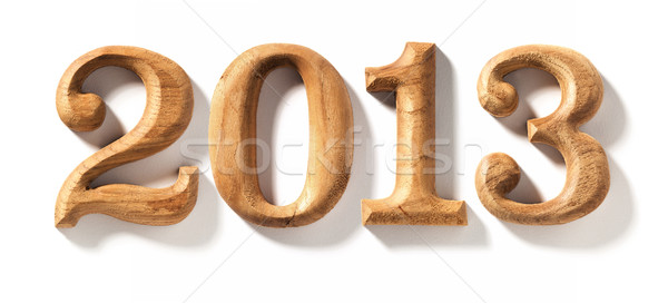 2013 wooden numeric with drop shadow. Stock photo © sippakorn