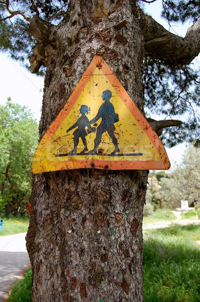 rusty warning sign Stock photo © sirylok