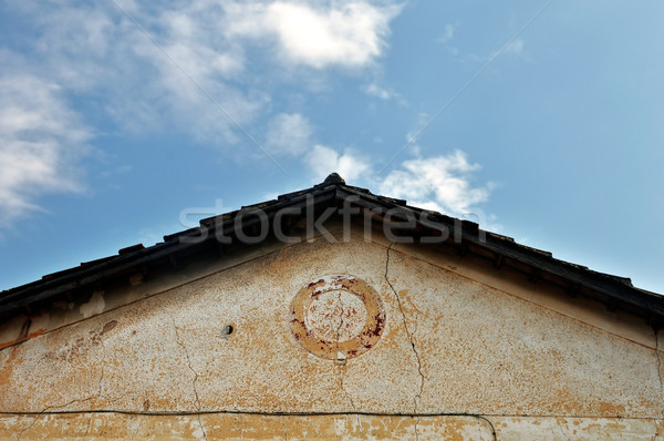 neoclassical house roof Stock photo © sirylok