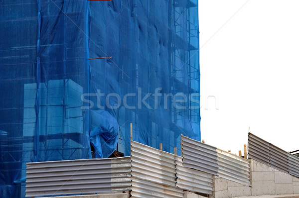 building covered with construction debris netting Stock photo © sirylok