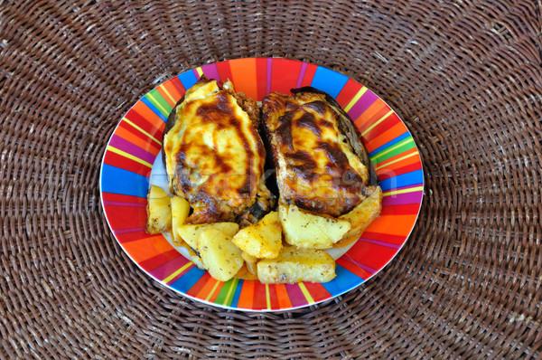 eggplants with ground beef Stock photo © sirylok