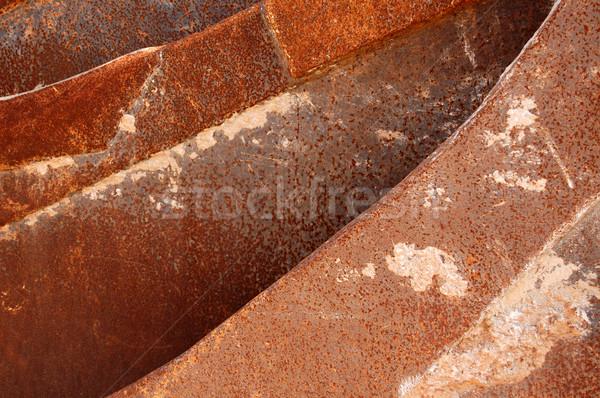 Metal arrugginito industriali texture design Foto d'archivio © sirylok