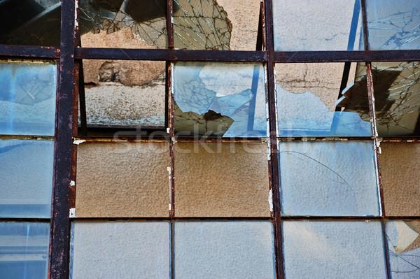 shattered glass attrium background Stock photo © sirylok