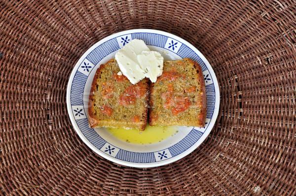 パン オリーブオイル トマト 暗い オレガノ ストックフォト © sirylok