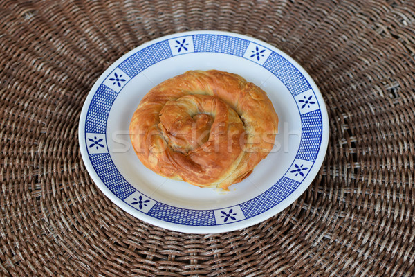 Spiraal taart vegetarisch eten Grieks traditioneel gevuld Stockfoto © sirylok