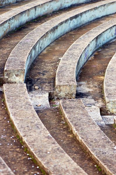 Boş amfitiyatro taş model soyut doku Stok fotoğraf © sirylok