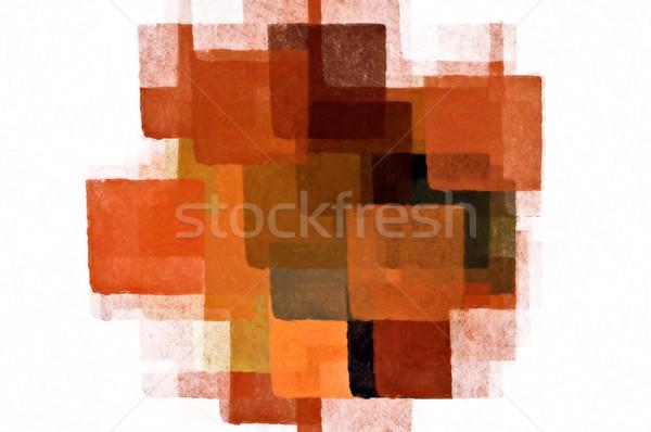 Mínimo padrão pintar branco abstrato Foto stock © sirylok