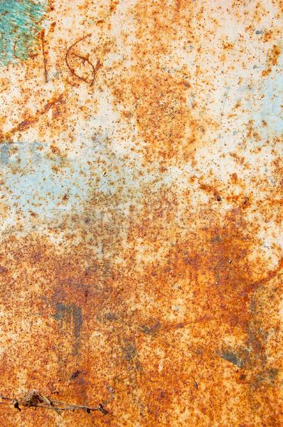 Rdzy powierzchnia zardzewiałe metal obrane farby Zdjęcia stock © sirylok
