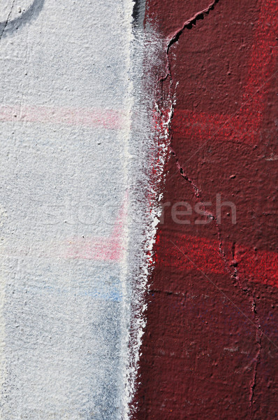 Mázgás fehér festék mintázott fal absztrakt Stock fotó © sirylok