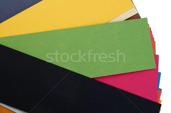 pieces of colorful cardboard paper Stock photo © sirylok