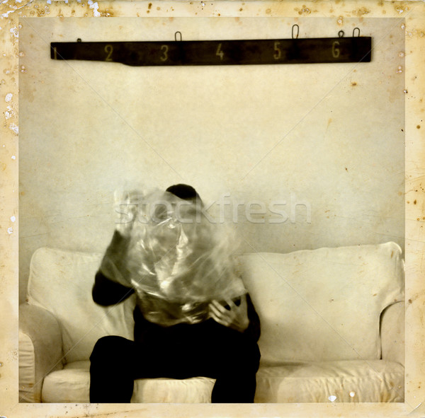 psychic medium with ectoplasm antique photo Stock photo © sirylok