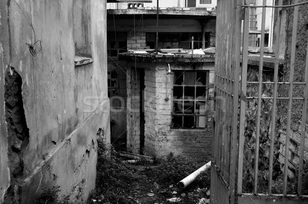 rusty gate abandoned warehouse Stock photo © sirylok