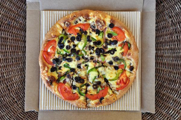 vegetarian pizza takeaway food Stock photo © sirylok