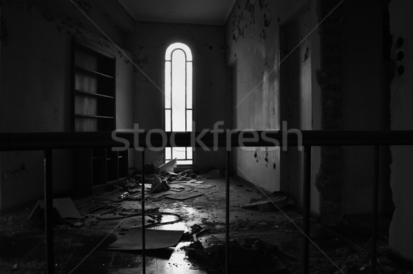 arched window and dirty floor Stock photo © sirylok