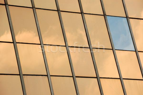 glass facade panel background Stock photo © sirylok