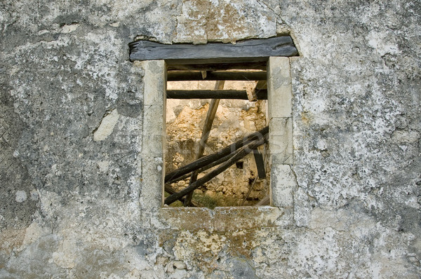 weathered wall window Stock photo © sirylok
