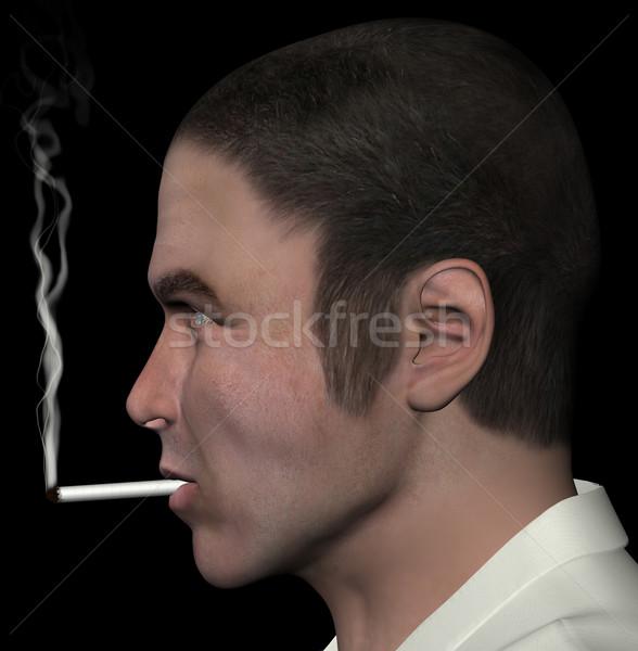 man smoking cigarette Stock photo © sirylok