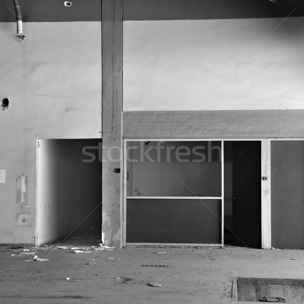 concrete wall and corridor in derelict factory Stock photo © sirylok