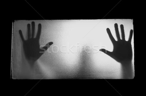 man behind glass Stock photo © sirylok