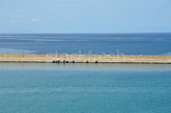 jetty wall sea and sky Stock photo © sirylok