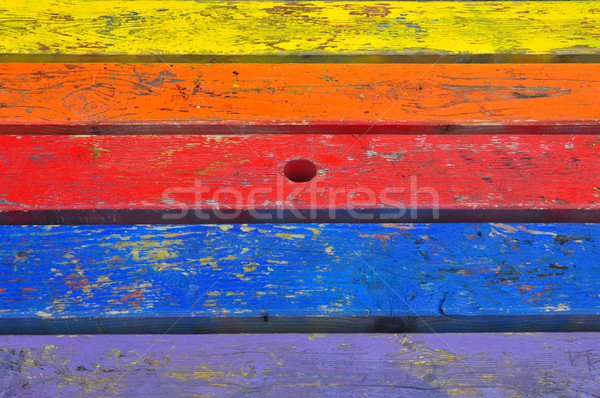 painted planks wood background Stock photo © sirylok