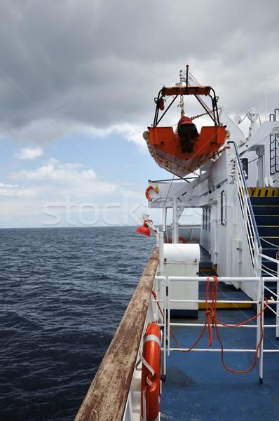 Balsa barco ver mar céu convés Foto stock © sirylok