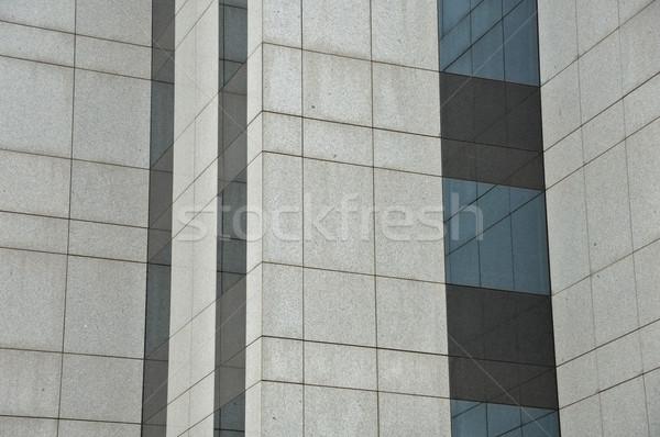 Edificio di vetro Windows muro moderno dettaglio architettonico luce Foto d'archivio © sirylok
