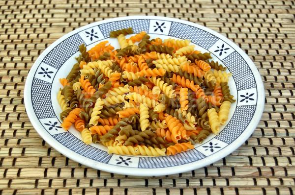 raw fusilli pasta Stock photo © sirylok
