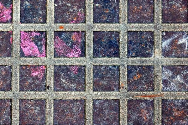Stock photo: rusty metal squares