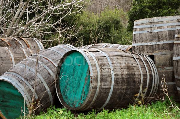 wooden barrels Stock photo © sirylok